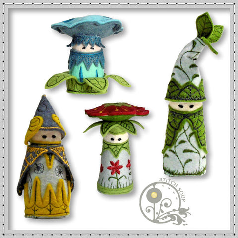 StitchSoup machine embroidery in the hoop ITH gnomes
