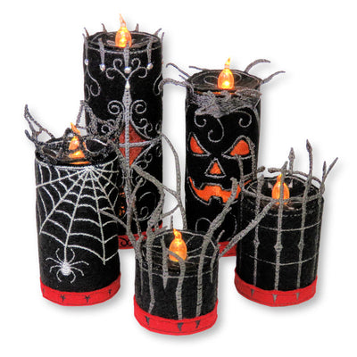 StitchSoup Machine Embroidery in the hoop (ITH) Halloween Candles