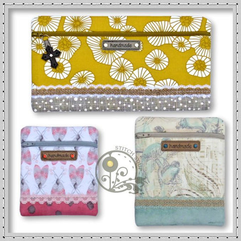 Lace Accent Zipper Pouch