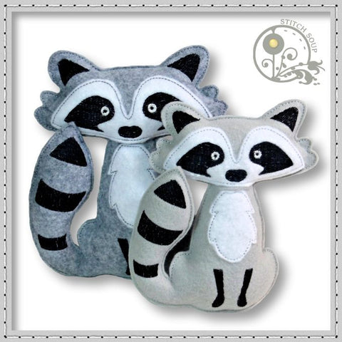 Stuffed Felt Raccoon