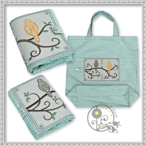 StitchSoup Machine Embroidery Folding Shopping Bags