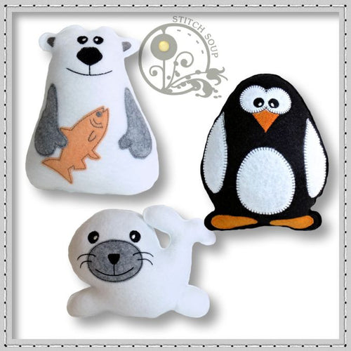 Stuffed Felt Arctic Animals