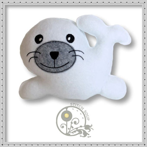 Stuffed Felt Seal