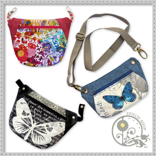 StitchSoup Machine Embroidery in the hoop ITH Waist Bags Hip Bags