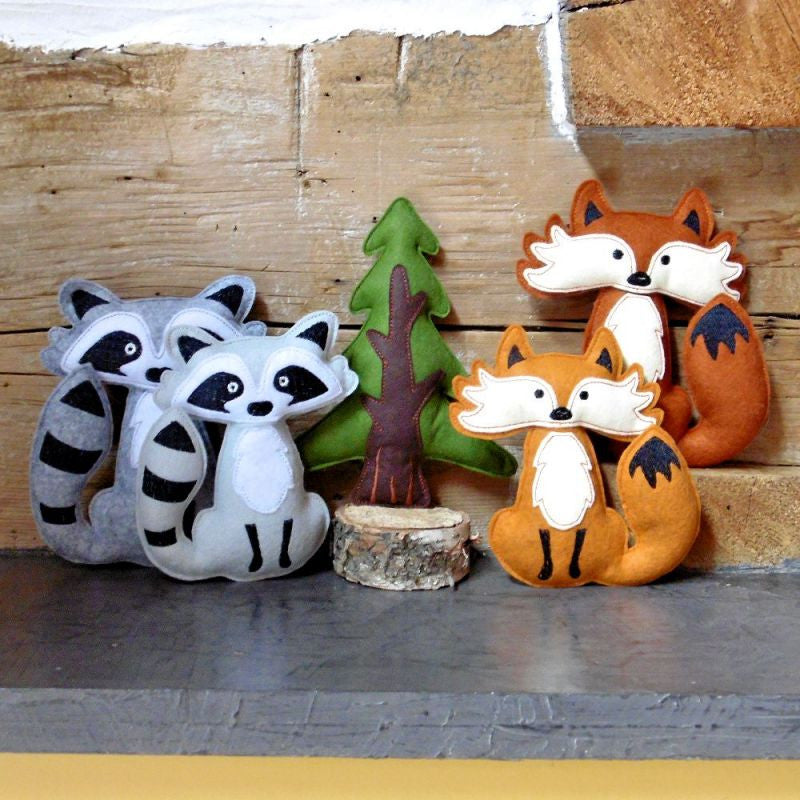 Stuffed Felt Woodland Animals