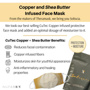 Soliscia Face Mask Infused with Copper and Moisturizer
