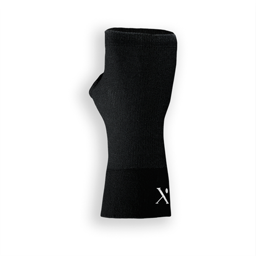 Pain Relief Infused Compression Wrist Sleeve - Black, 15+ Washes & 150 Hours of Use
