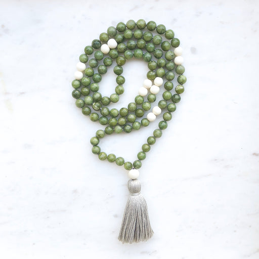 Serpentine Mala Necklace