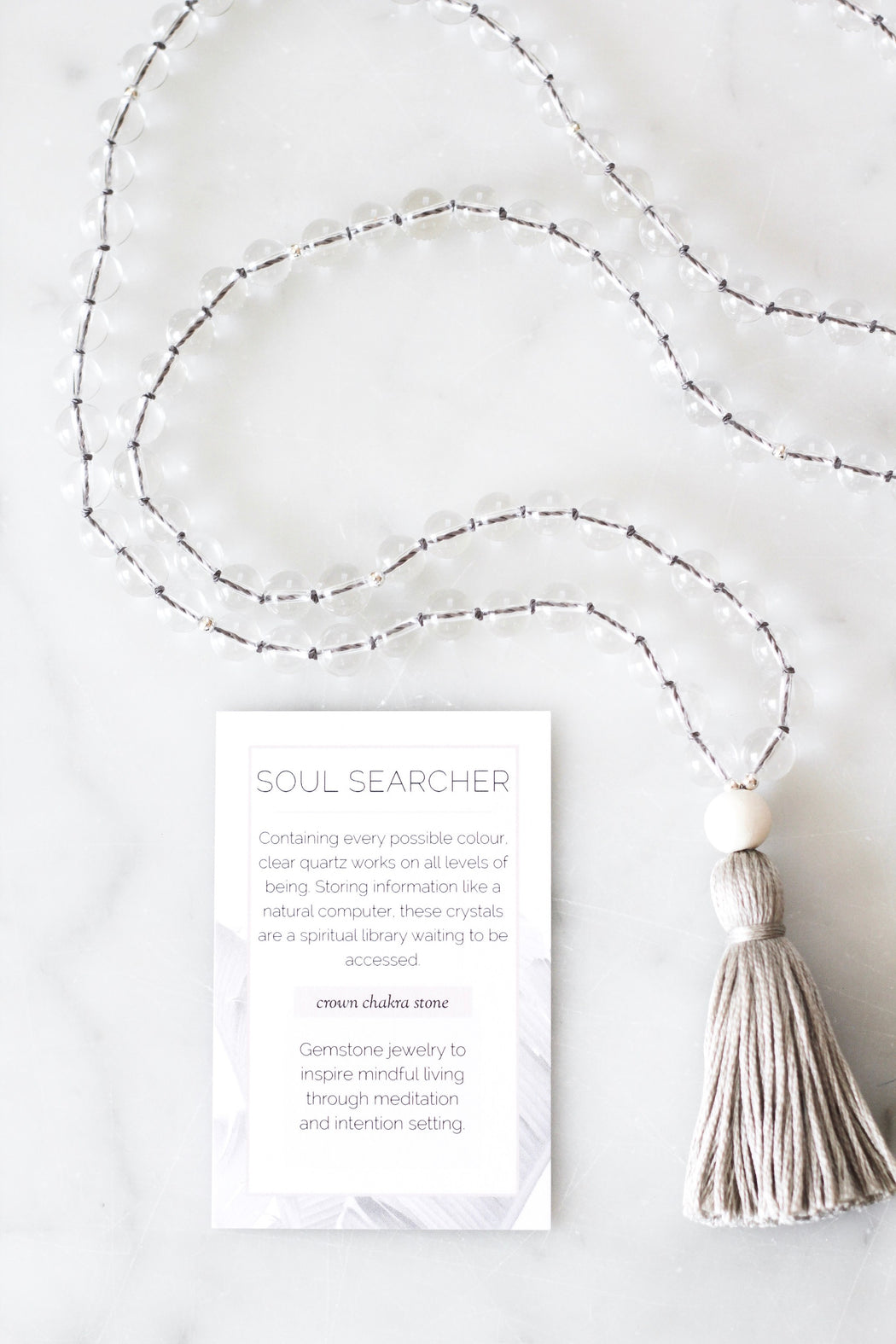 Clear Quartz Mala Necklace