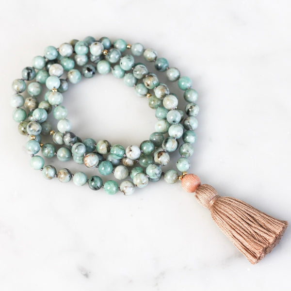 Emerald Mala Necklace