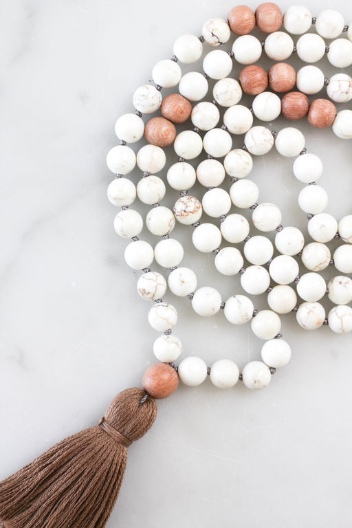 Magnesite Mala Necklace