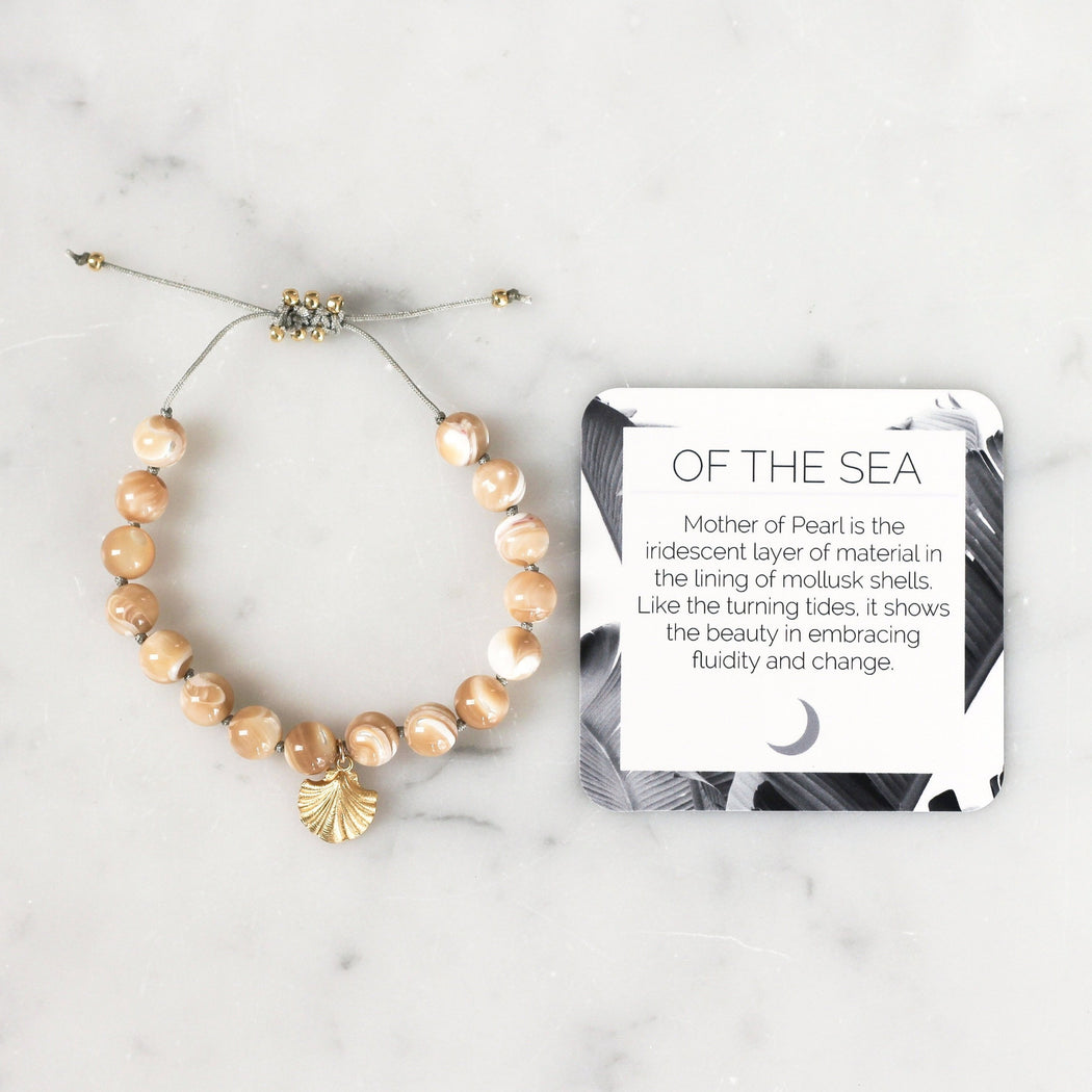 Mother of Pearl Mala Beads Bracelet