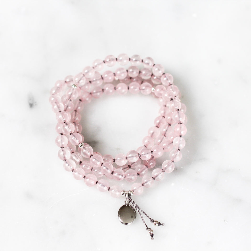 Rose Quartz Pendant Mala