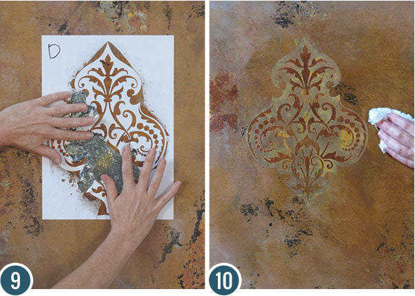 Metallic Turkish Wall Art Stencils Decorative Wall Finish Painting Tutorial