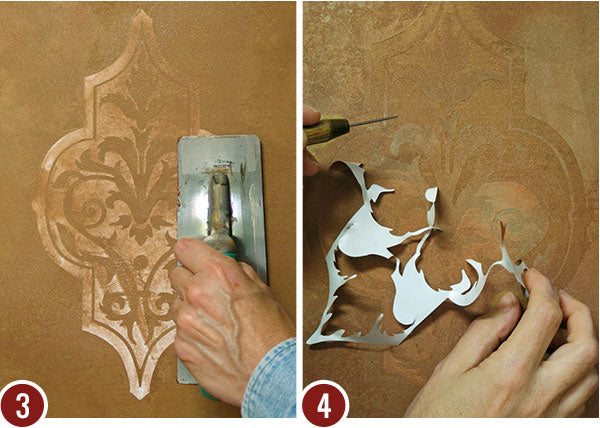 Embossed Leather Look with Wall Art Stencils – Modello® Designs