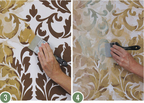 Professional Decorating Tutorial: How to Stencil & Paint with Colorful Iridescent Plaster