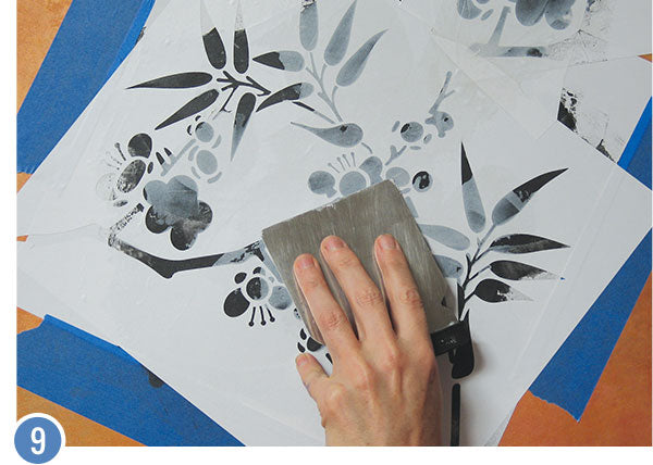 How to Stencil a Custom Oriental Mural: Japanese Dogwood Floral Wall Finish