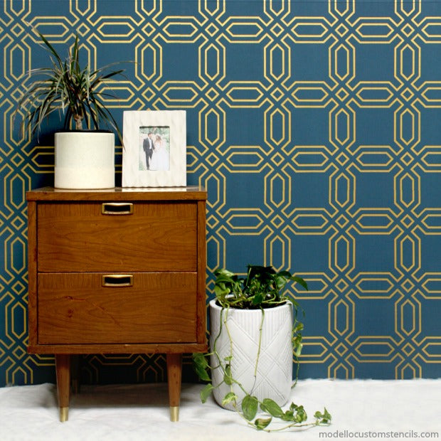 How to Paint a Fast & Easy Wall Design with Modello Custom Vinyl Stencils [VIDEO Tutorial] - modellocustomstencils.com