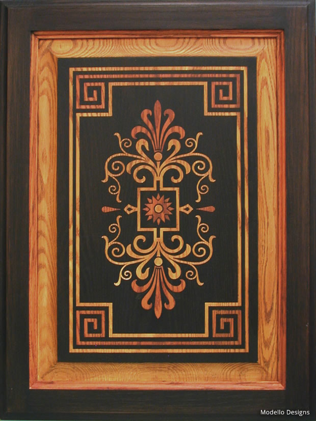 How To Stencil Faux Inlaid Wood Designs Modello 174 Designs
