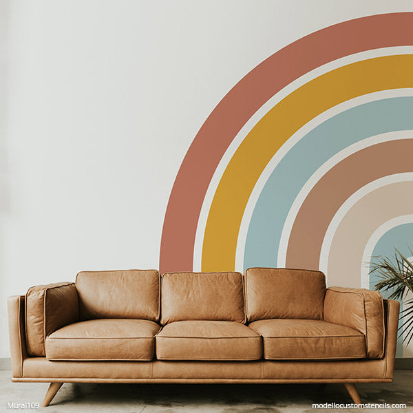NEW! Rainbow Wall Mural Stencil