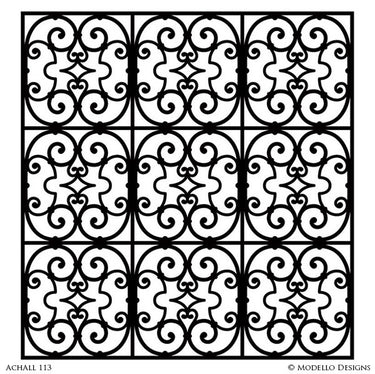 Decorative Painting with Large Allover Wall Stencils - Modello Designs Custom Stencils