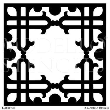 Stenciling Global Chic Tile Designs for Custom Home Decor - Modello Custom Stencils