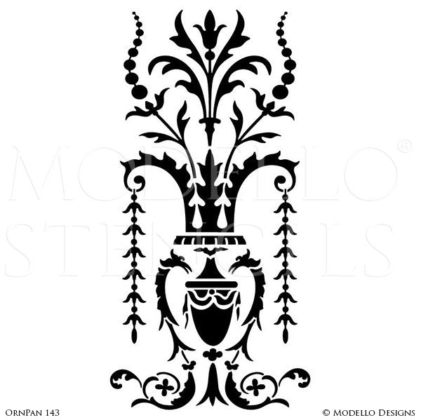 Decorative and Antique Glass Patterns and Custom Modello Stencils