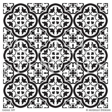 Bohemian Tile Stencil Art for Decorative Painting Projects - Modello Custom Stencils