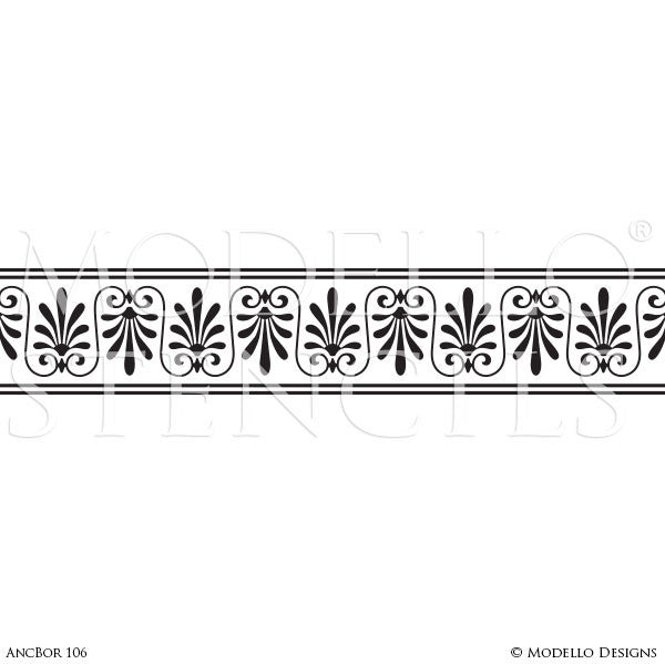 Classic European Ceiling Border Stencils for Painting Custom Home Decor
