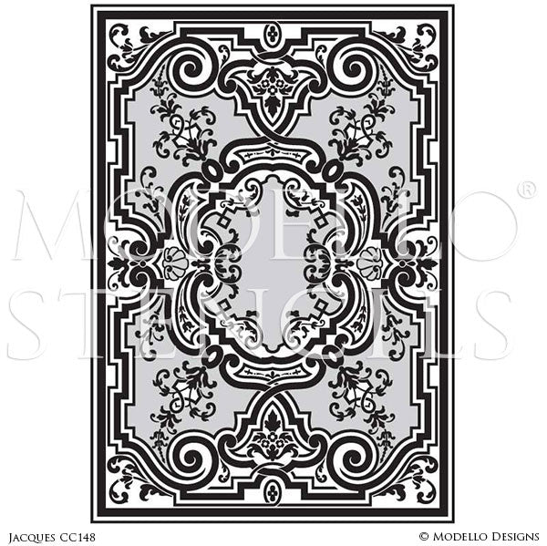 Good European Designs #1: Vinyl Sticker Stencils With Ornamental European Designs And Custom Patterns  On Floor Carpet Ceiling - Modello