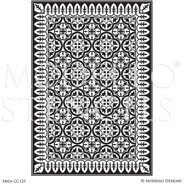 Decorative Concrete Stencils and Faux Carpet Floor Designs - Modello Custom Stencils