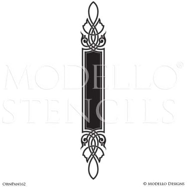 Custom Cut Stencils for Painting Ceilings and Archways with Large Patterns - Modello Custom Self Adhesive Stenciling