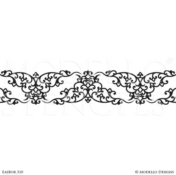 Custom Border Stencils for Painting Ceiling Designs & Wall ...