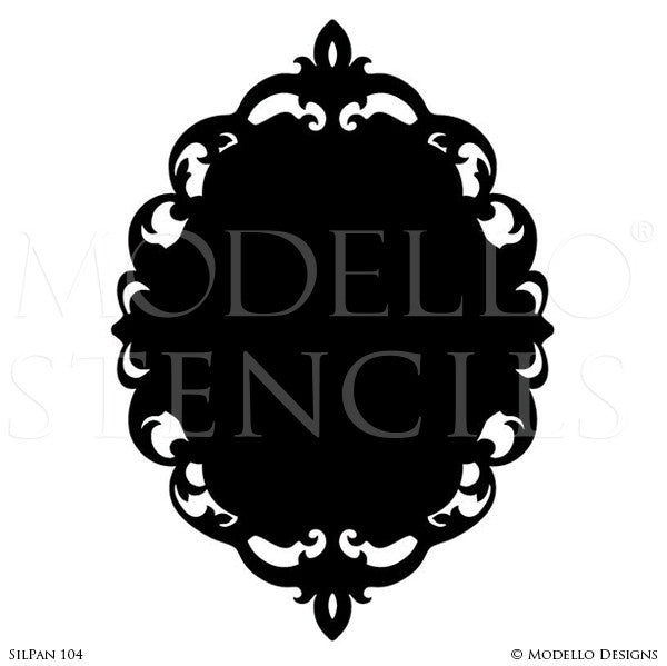 Decorative Frame Painted on Walls, Mirror, Window - Modello Custom Stencils