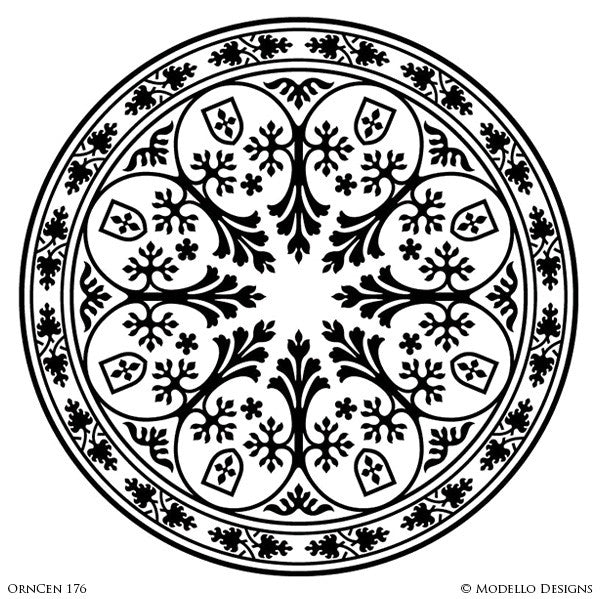 Decorative Concrete Stencils and Ceiling Medallion Designs - Modello Custom Stencils