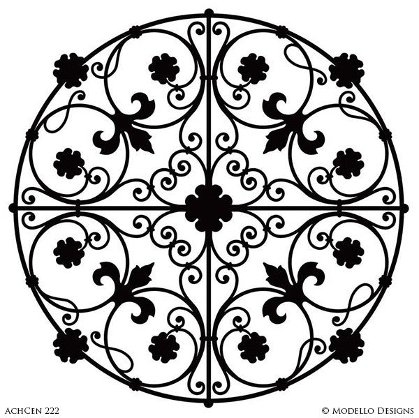 Architectural Design and Decor with Ceiling Medallion Stencils - Modello Custom Stencils
