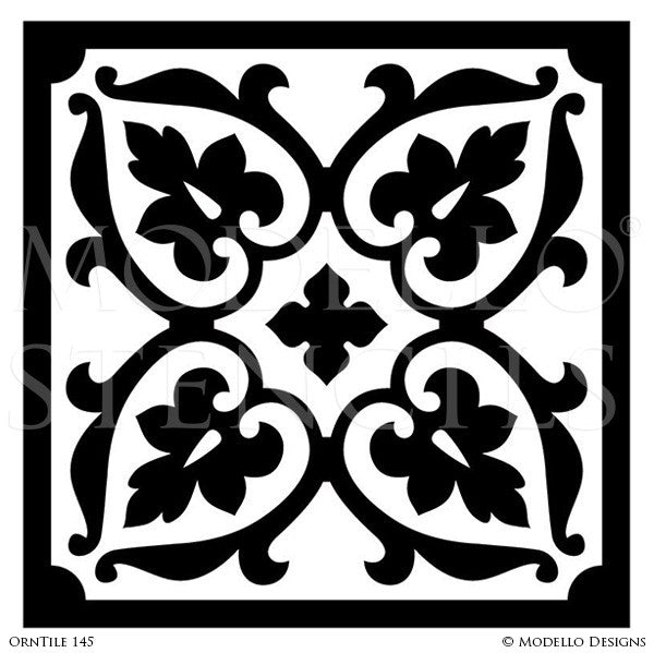 Decorating Home Projects and Wall Murals with Tiles - Modello Custom Vinyl Stencils