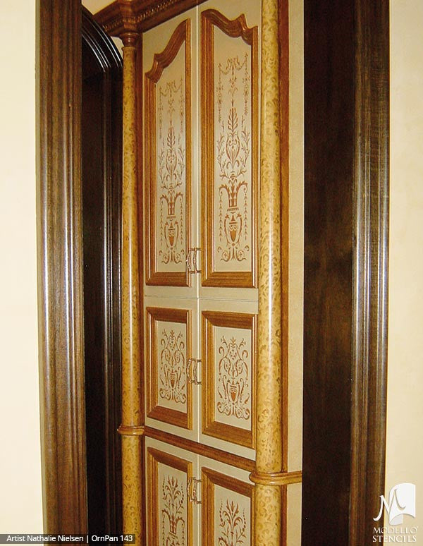 ... Decorative And Vintage Door Patterns And Custom Modello Stencils