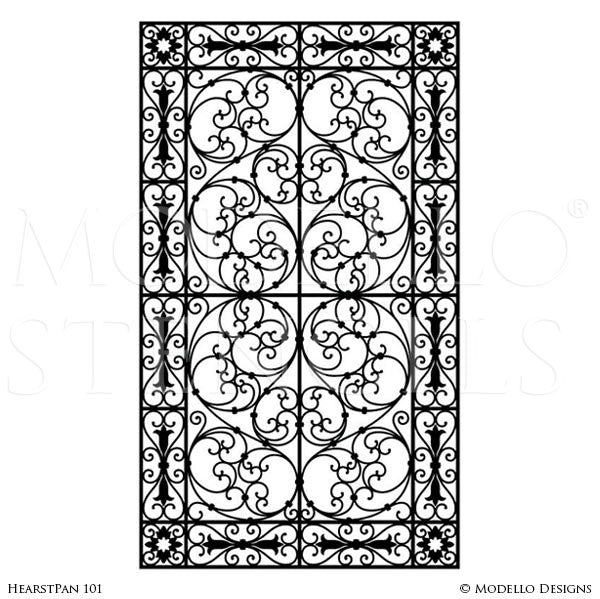 Beautiful European Designs #3: Old World And European Design And Decor - Large Adhesvie Wall Panel Window  Stencils - Modello