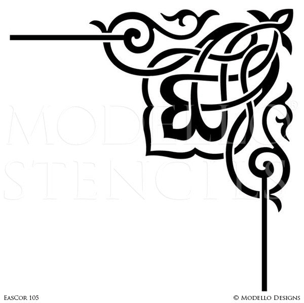 Decorative Corner Stencils For Stenciling Ceiling Or Wall Designs