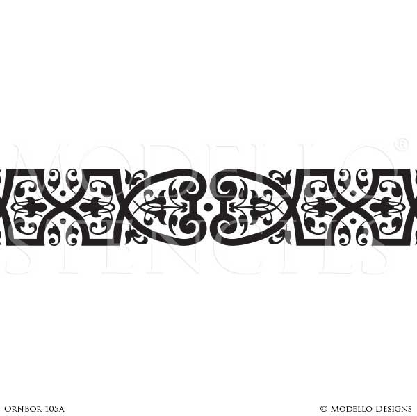 Custom cut stencils for painting ceilings with large patterns modello custom self adhesive stenciling