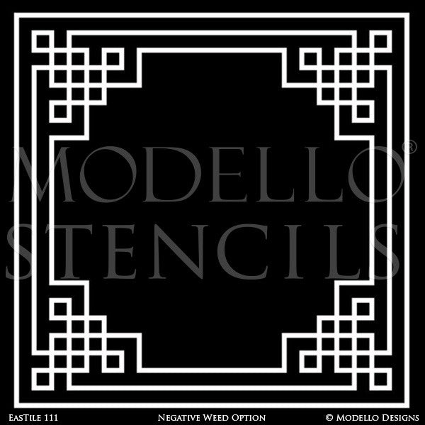 Painting Tile Stencil Designs - Modello Custom Stencils and Patterns