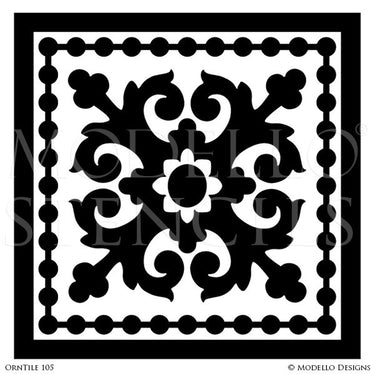 Decorative Tiles for Stenciling Floors and Ceilings - Modello Custom Designer Stencils