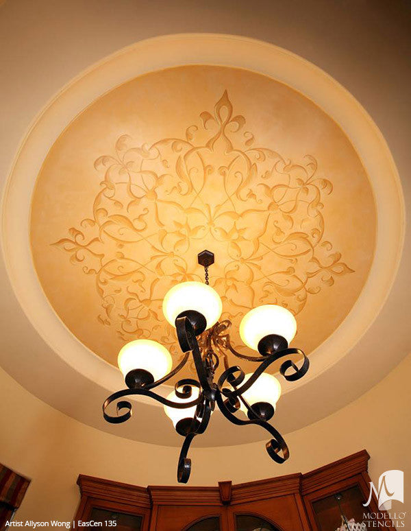 Custom Designed Ceiling and Decorative Painting Ideas - Modello Custom Stencils