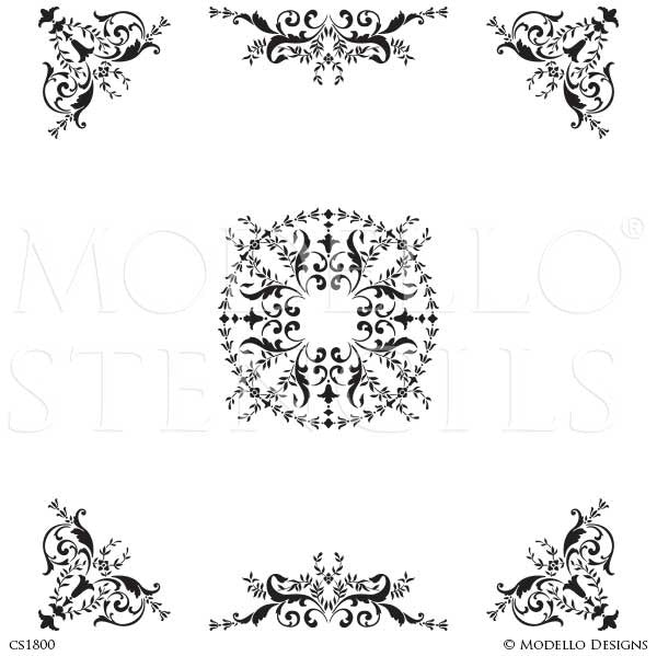 CS1800 Custom Ceiling Stencils Set