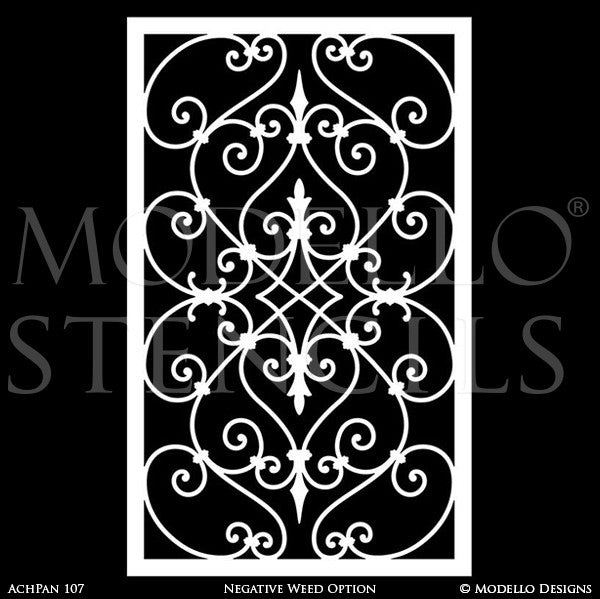 Decorative Wall Panels Stenciling Custom Designs on Walls and Painted Furniture - Modello Wall Stencils