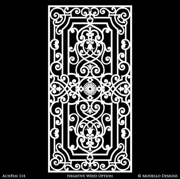 Classic European Panel Stencils for Painting Walls and Furniture and Doors and Glass Mirror - Modello Custom Stencils