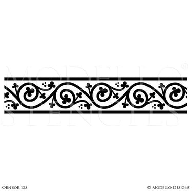Painting Ceiling Designs with Custom Classic Border Stencils