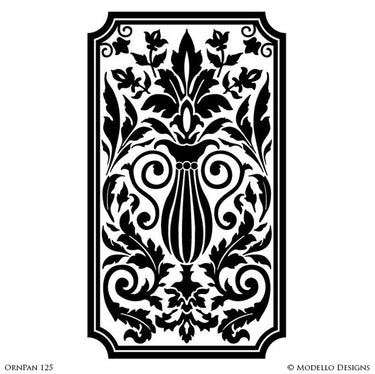 Large Designer Stencils for Painting Colorful Patterns on Wall Decor & Wall Murals - Modello Custom Stencils