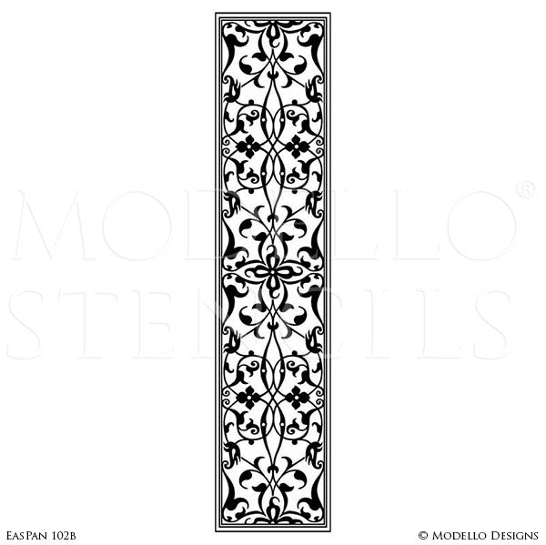 Professional painted wall panel glass mirror stencils custom modello stencils